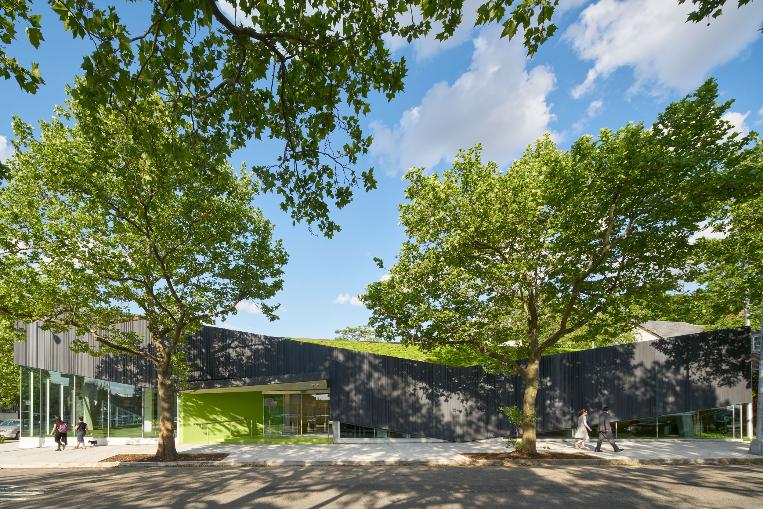 Kew Gardens Hills Library by WORKac. Photo: Bruce Damonte.